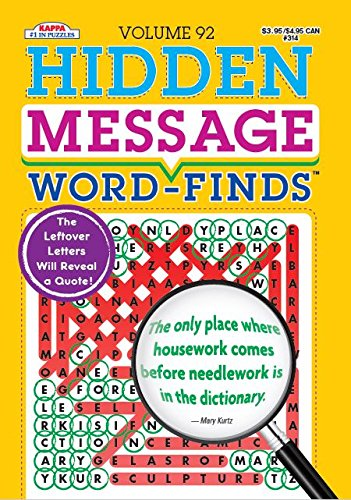 Hidden Message (Hidden Message Word-Finds Puzzle Book-Word Search Volume 92)