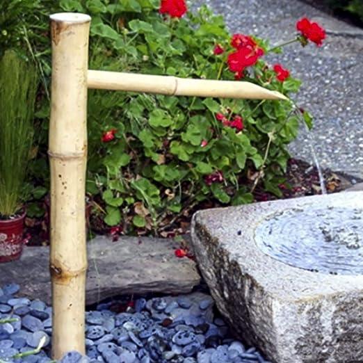 Fuente De Agua De Bambú Feng Shui Jardín Japonés Al Aire Libre Boquilla Y Caño: Amazon.es: Hogar