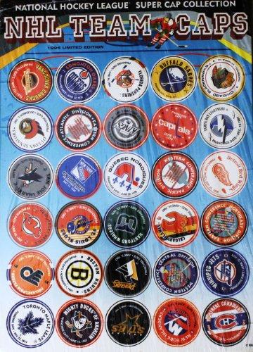 NHLチームロゴキャップスーパーキャップコレクション–1995Limited Edition–30caps / Pogs