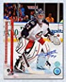Signed Sergei Bobrovsky Photo - Columbus Blue Jackets 8x10 White Jersey - Autographed NHL Photos