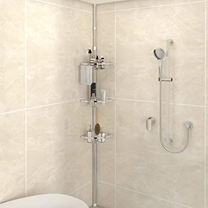 Amazoncom Lifewit Corner Shower Caddy 3 Tier Adjustable Bathroom