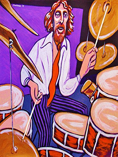 GINGER BAKER PRINT POSTER drums cd lp record album vinyl Cream air force tom tom snare cymbals kick clapton jack (Ginger Baker Drum)