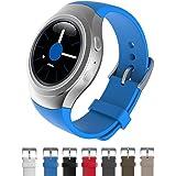 Dokpav® Samsung Gear S2 Orologio Cinturino Cinghia Watch Band Silicone Matt Sportivo Sports Ricambi - Colore Azzurro