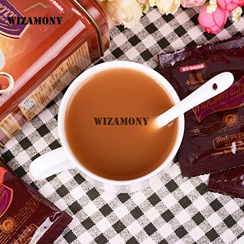 Best Quality - Mugs - Can Promotion! SLIMMING COFFEE Cup Thailand Authentic Ceramic Spoon tea set - by ROZA - 1 PCs