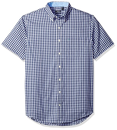 IZOD Men's Big and Tall Advantage Performance Poplin Short Sleeve Shirt, Deep Twilight Blue, 4X-Large Big