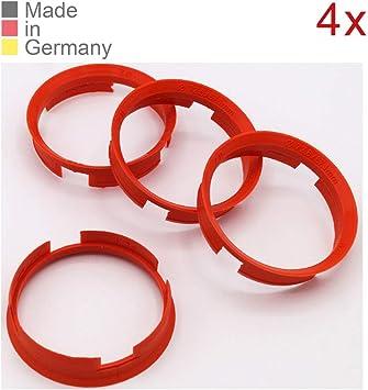 Konikon 4x Zentrierringe 72 6 X 67 1 Mm Orange Felgen Ringe Radnaben Zentrierring Adapterring Ring Felgenring Distanzring Made In Germany Auto