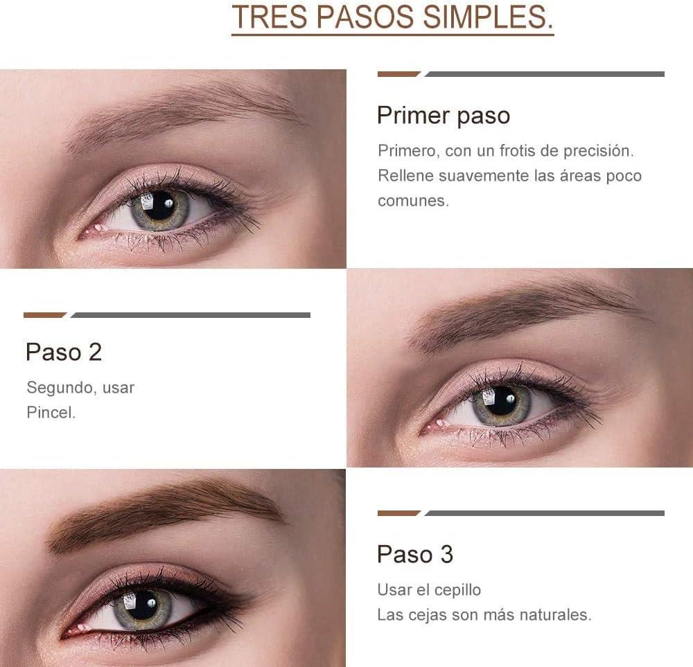 Tinte profesionales para cejas profesionales, 4,5ML KIT Delia Marrón Claro/Marrón/Marrón Oscuro/Gris (Marrón)
