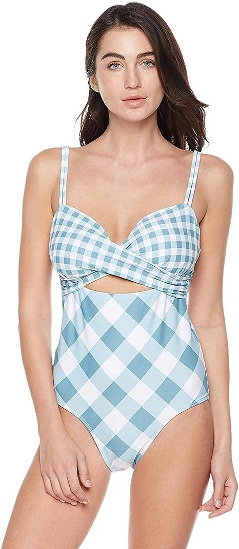 Amazon.com: Bloom Muse - Traje de baño de cintura alta para ...