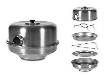 Pentole Agnelli - Horno Tostador con Orificio, de Aluminio, Color Plateado, cód. COALFORNOOCCHIO35: Amazon.es: Hogar