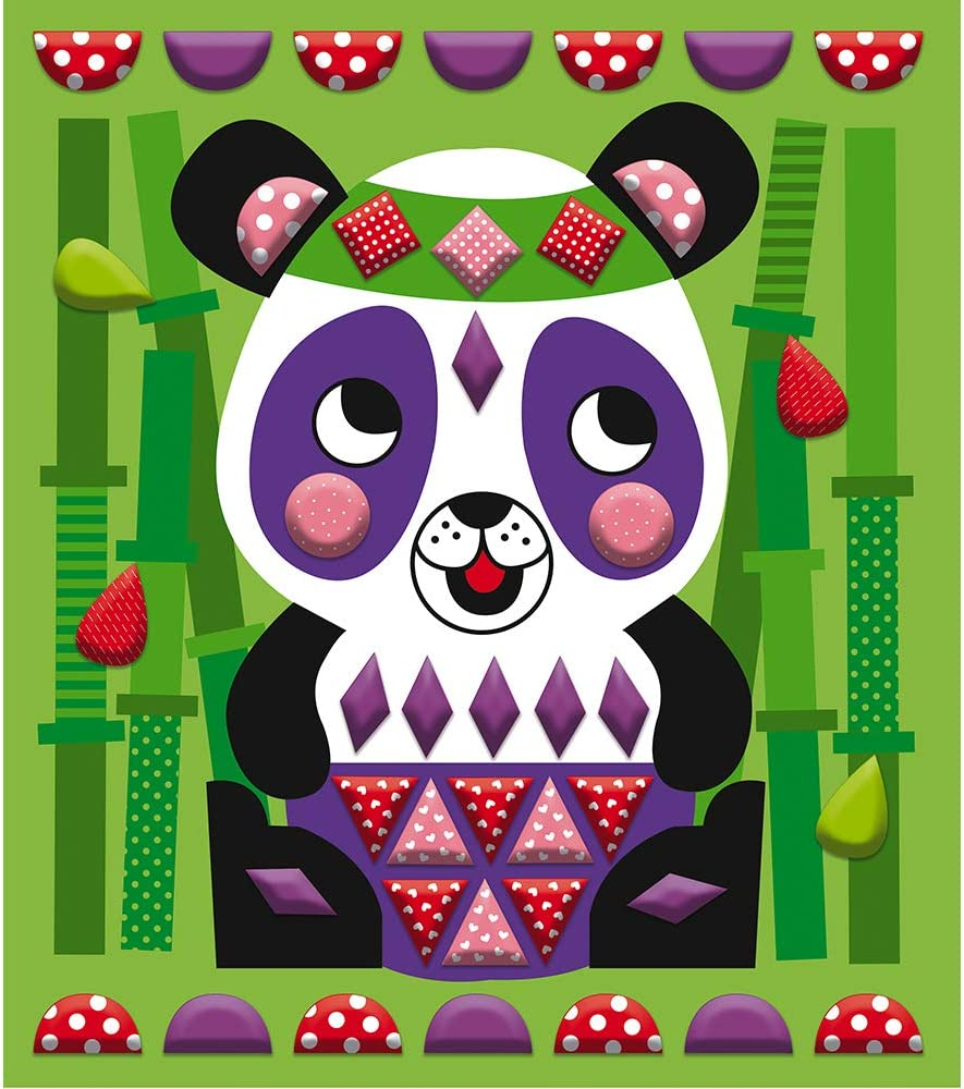 and Developmental Play Creative Ages 3-8+ No Mess No Glue Foam My First 3D Animal Sticker Mosaic Picture Kit Janod Crafts STEAM Approach to Learning Inventive Imaginative