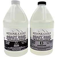 Craft Coat 1 Gallon Epoxy Kit (Stone Coat Countertops) – Learn to Use Epoxy with a Low-Cost DIY Epoxy Resin Kit! Clear…