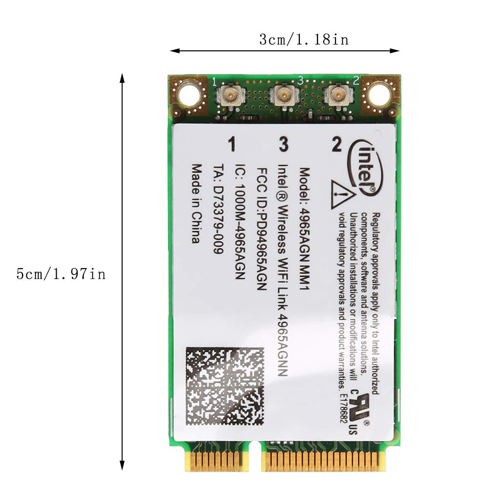 Meilear Dual Band 300Mbps WiFi Link Mini PCI-E Wireless Card for Intel 4965AGN NM1 300Mbit//s Adaptador y Tarjeta de Red