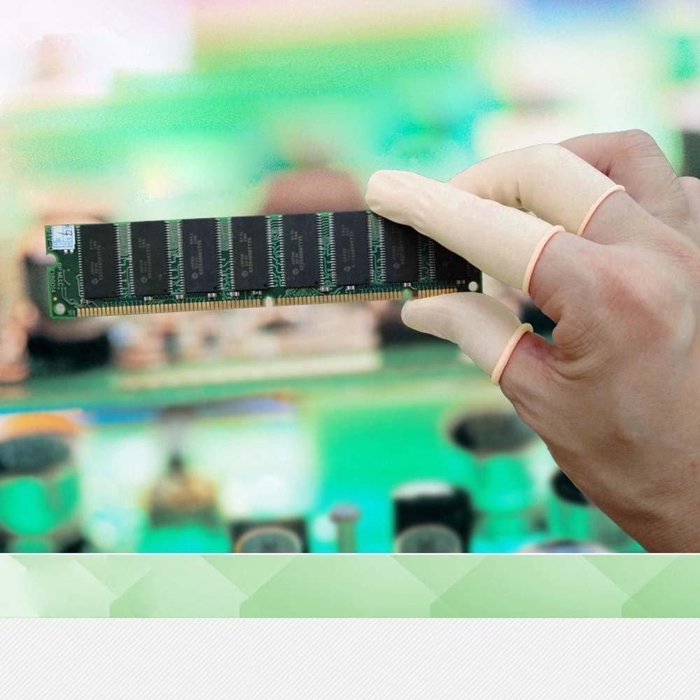 Dedales de látex, cubiertas protectora para los dedos (200 unidades ...