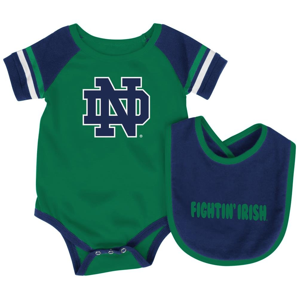 Notre Dame Fighting Irish Infant Roll-Out Onesie and Bib Set
