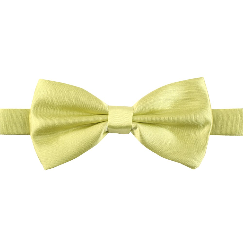 JACCOS Mens Formal Solid Color Soft Feel Pre-tied Charming Bow Tie 4.2-4.5in.