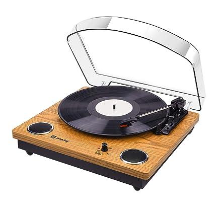 Amazon.com: Record Player, 3-Speed Popsky Vintage Turntable ...