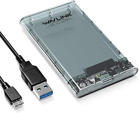 Wavlink UASP - Carcasa para Disco Duro SATA (USB 3.0, SSD de 2,5 ...