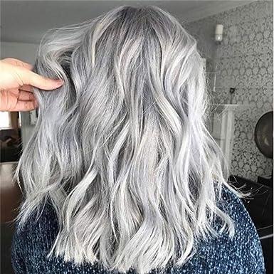 Mypace - Peluca de pelo natural liso para hombre, mujer, pelo ...