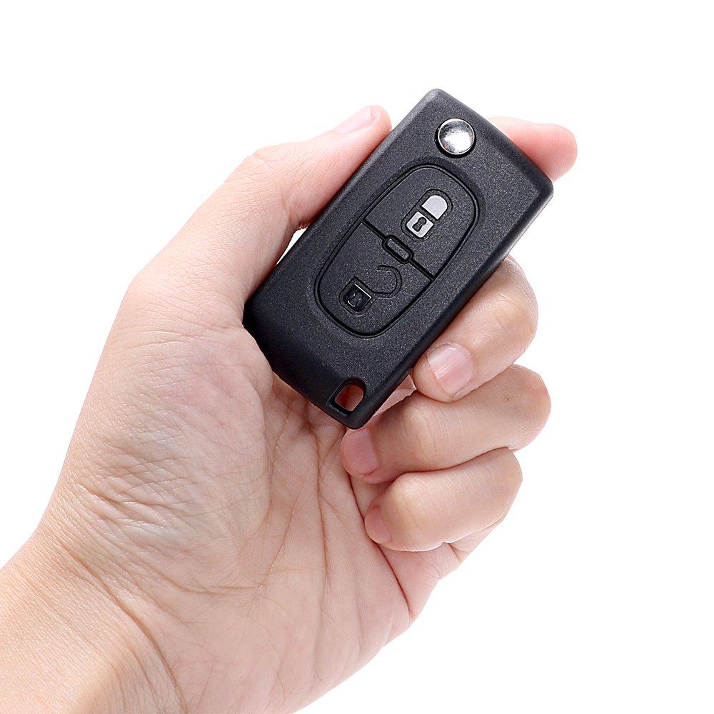 Amazon.com: Kavas - Llave de coche para Citroen C2 C3 C4 C5 ...