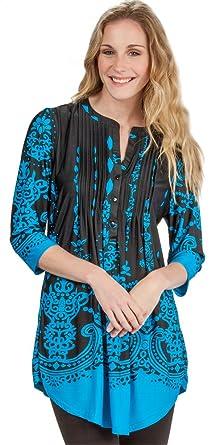 dddc1e6bf3d La Cera Plus Tunic - Ethereal Turquoise at Amazon Women's Clothing ...