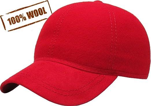 e15617b571d KBW-09 RED Wool Felt Solid Baseball Hat Cap  Amazon.ca  Sports ...