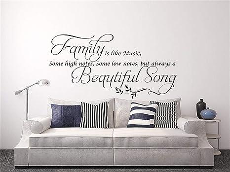 pegatinas de pared juveniles La familia es como la música ...