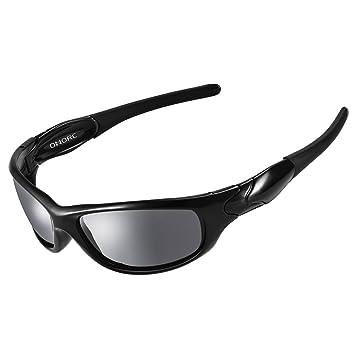 OMORC Lunettes de Soleil UV400 Polarisées Lunettes de Sport Incassables  TR90 Unisexe pour Cyclisme Camping 86ecb741e639