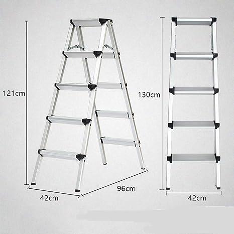 N/A Escalera Plegable para el Hogar: Escalera de Cuatro O Cinco Escalones, Escalera de Doble Cara de Aluminio Grueso, Taburete de Tiro, Escalera Pequeña, Taburete de Caballo,Naranja,UNA: Amazon.es: Deportes y aire libre
