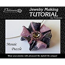 DIY Jewelry making Tutorial Mosaic Puzzle, Practical Step by step Guide on How to make Handmade Beaded Flower Pendant with Peyote Stitching Technique