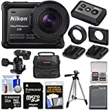 Nikon KeyMission 170 Wi-Fi Shock & Waterproof 4K Video Action Camera Camcorder with Remote + 32GB Card + Battery + Case + Tripod + Kit