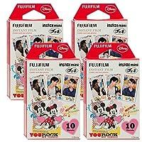 Fujifilm Instax Mickey & Friends Instant Film 4 Pk For Mini 8 Cameras 40 Sheets