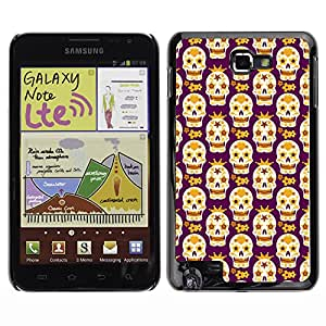 iKiki-Tech Estuche rígido para Samsung Galaxy Note i9220 N7000 - Vibrant Skull