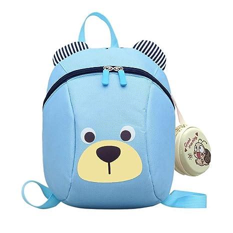 mitad de descuento 7b958 48798 CUILEE Mochila para Niños/PequeñA Bebes Guarderia Bolsa con Arneses de  Seguridad,Azul