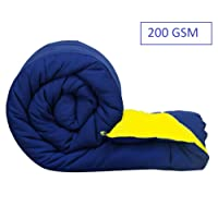 Jaipuri Haat Soft Micro Polyester and Cotton Mix Single Duvet/Dohar/ AC Blanket/Quilt/R Along with Travel Bag (200 GSM)