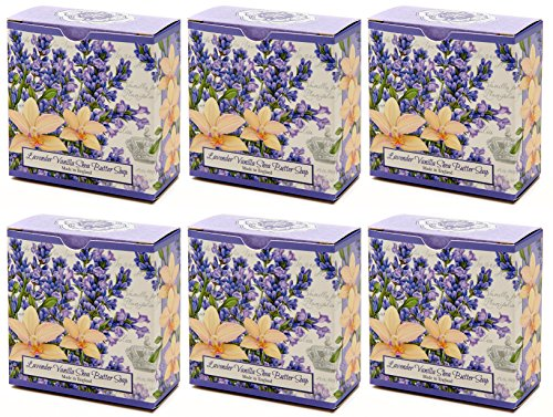 Value Pack, Lavender Vanilla Shea Butter Round Bar Soap…Scent: Lavender, Mimosa, Balsamic, Vanilla, Musk, Sandlewood (6 pack...Buy 5 bars ..Get 1 FREE) - Glycerin Bar Soap Value Pack