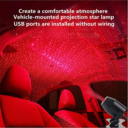 Car USB Atmosphere Ambient Star Light car interior lights LED decorative armrest box car roof full...