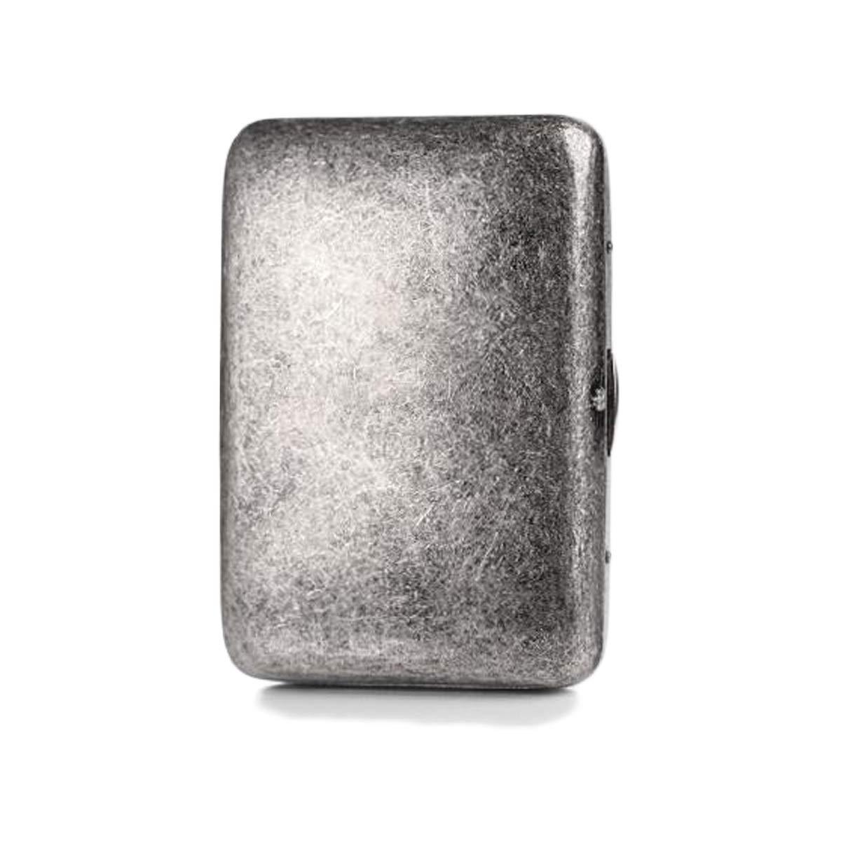 WENPINHUI Cigarette Case, 16 Sticks of Pure Copper Antique Silver Metal Retro Creative Personality Cigarette Box Male Portable Cigarette Holder (Color : Silver) by WENPINHUI