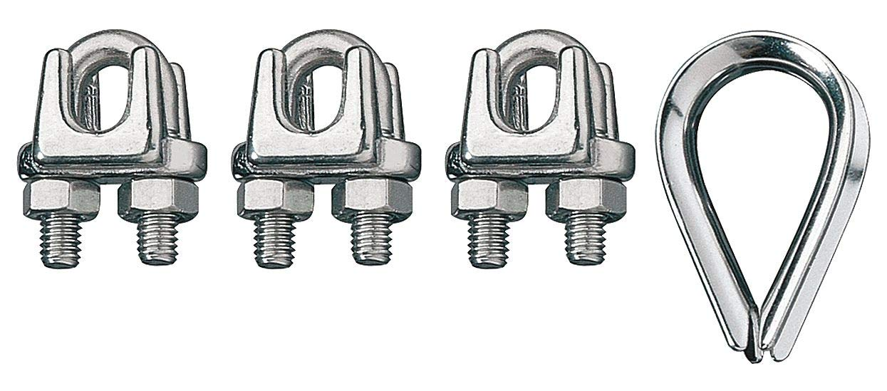 2 x 12MM THIMBLE THIMBLES WIRE ROPE CABLE CLIPS CLAMPS HOLDERS