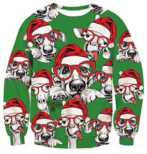 Young Boy and Girls Christmas Sweatshirt 3D Cute Print Sweater 90s Long Sleeve Athletic Pullover Active Sporty Outfits for 00S Xmas Holiday -