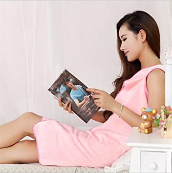 B BATH TOWEL HL Wearable Baño Mágica Toalla De Playa Toalla, Pink, 150 * 80Cm,Pink,150 * 80cm: Amazon.es: Hogar