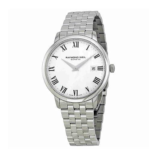 Raymond Weil Reloj Analogico para Hombre de Cuarzo con Correa en Acero Inoxidable 5488-ST-00300: Amazon.es: Relojes