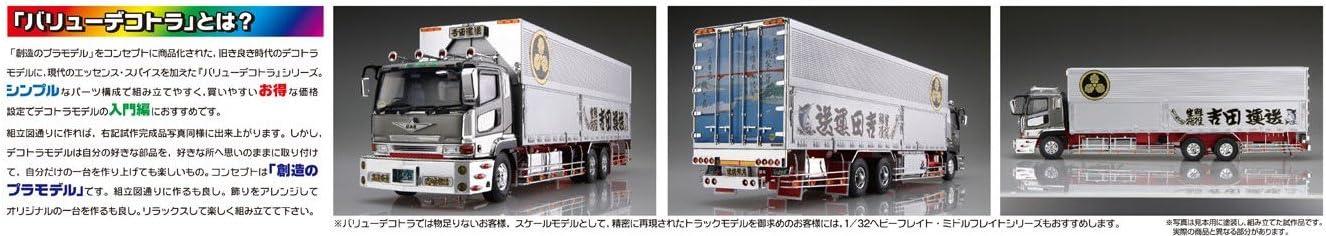 Aoshima Bunka Kyozai 1//32 Value Dekotora Extra Series Yoshida Transportation Round Crest line Plastic Model No.9