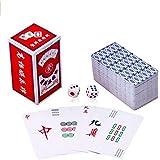 (イスイ)YISHUI 高級感のある 透明 麻雀 牌 カード 静かに どこでもできる ポータブル おしゃれ で 本場 なトランプ サイズ 麻雀 牌 サイコロ