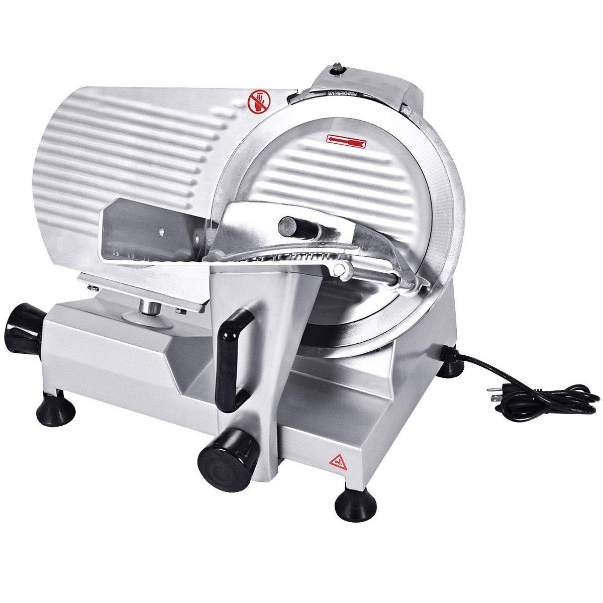 "zwan 12"" High-Efficiency Semi-Auto Commercial Meat Slicer with Ebook"