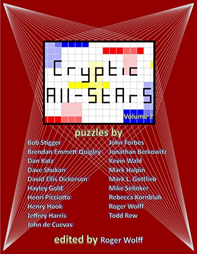 Cryptic All-Stars, Volume 2 by Henry Hook (2015-08-02) (Crossword Cryptic Puzzles)