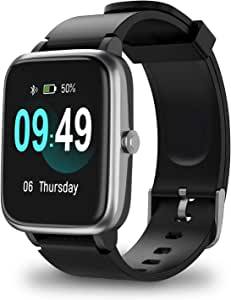 ANBES Smart Watch, IP68 Waterproof Fitness Tracker with Heart Rate Monitor, Step Counter Sleep Tracker Watch, Smartwatch Compatible with iPhone and ...