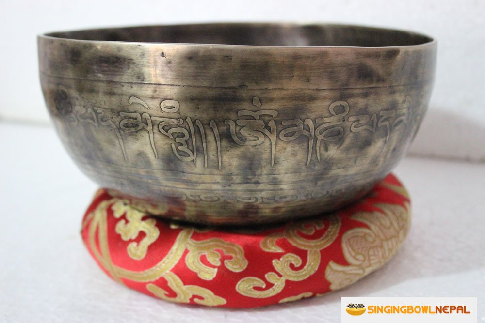 Singing Bowl Nepal Tibetan Meditation Om Mani Padme Hum Peace Singing Bowl From Nepal, 8 Inch by TM THAMELMART FOR BEAUTIFUL MINDS