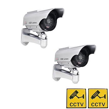 Phot-R 2x accionada solar al aire libre del CCTV imitacion falsa cubierta IR LED