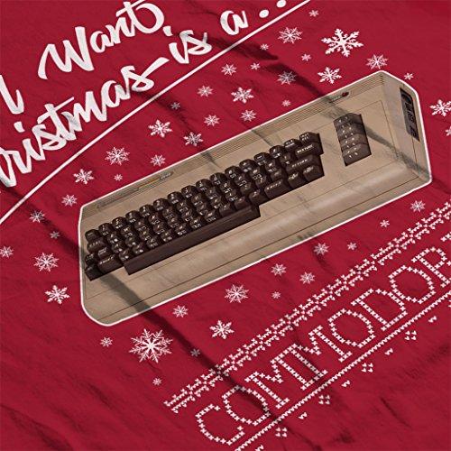 Christmas Christmas Christmas Red All All All Commodore I 64 Women's Is Cherry Sweatshirt A For Want OtFqwtT