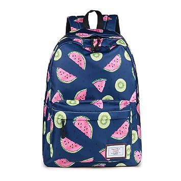 fe98af93c2 CIKER Women Waterproof Backpack Fresh Cute Watermelon Printing School Bags  Rucksack (Blue)